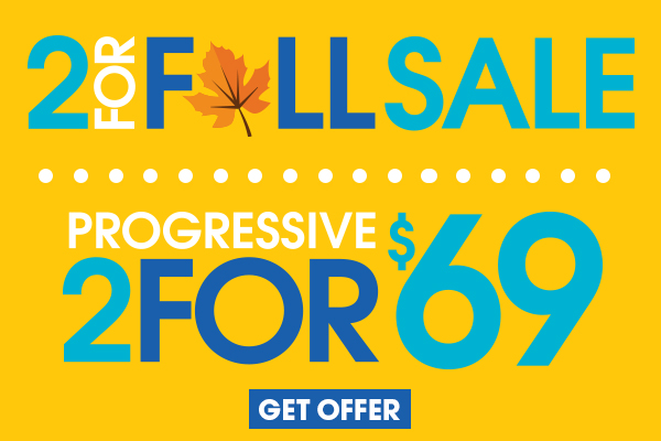 2/$69 Progressive: Some restrictions apply. Price includes $19.95 frames and Progressive (no-line bifocal) lenses. No insurance discounts apply. Doctor's prescription required.
