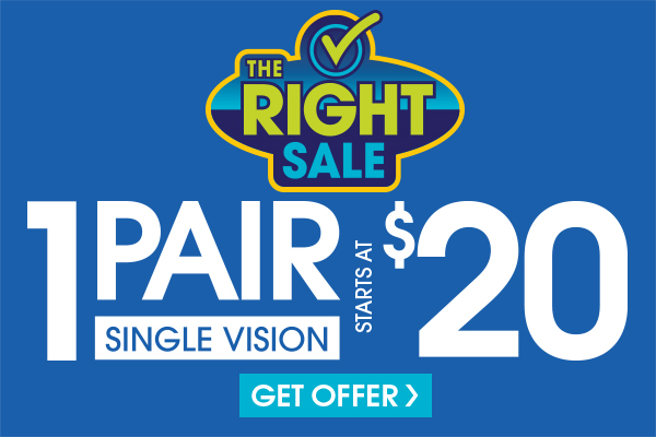 Valid in-store only. Includes frames priced up to $19.95 and single vision, plastic lenses. Progressive and lined multifocals extra. Cannot be applied to previous purchases or combined with any other discounts or insurance benefits. Excludes Ray-Ban frames and ready-to-wear glasses. Valid doctor's prescription required. Expires 10/6/18.