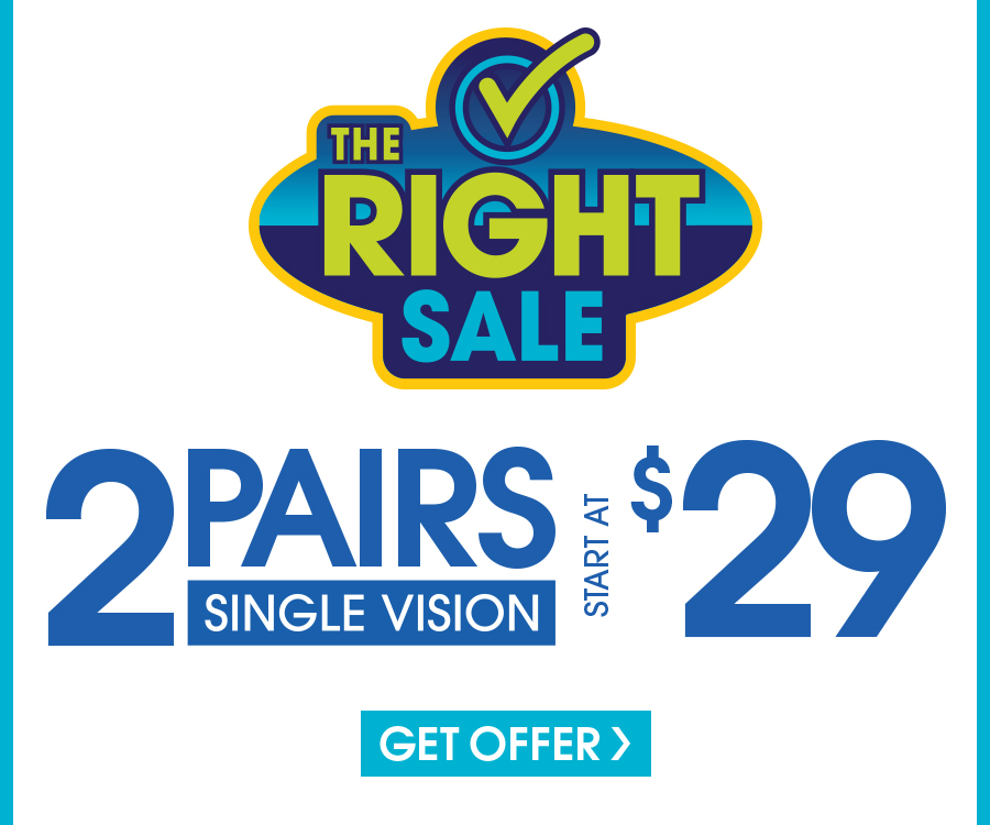 Includes $19.95 frames and progressive vision plastic lenses. Cannot be combined with any other discounts or insurance benefits. Valid doctor's prescription required. Offer only available in store.