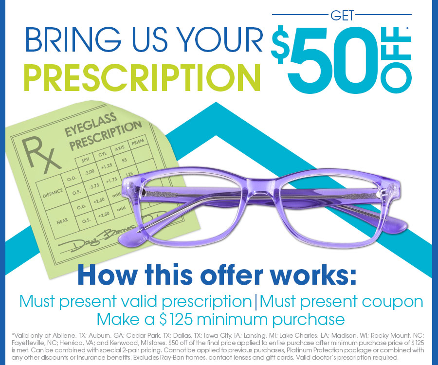 227c31e90f Eyemart Express -  50 off of the final price applied to entire ...