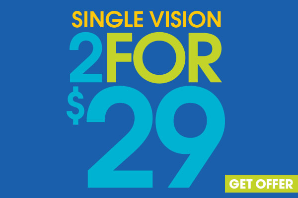 Get two complete pairs of glasses for only $29.00