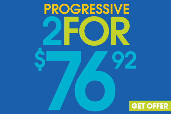Get two pairs for with progressive lenses for only $76.92